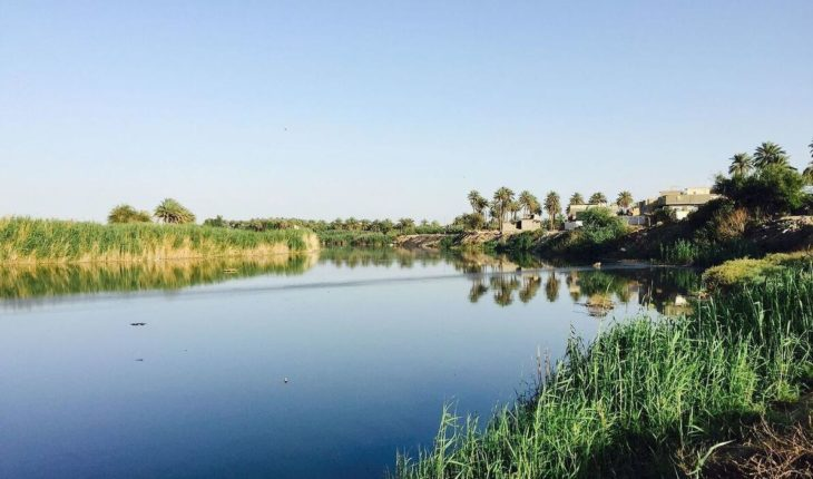 River landscape at today's Baghdad