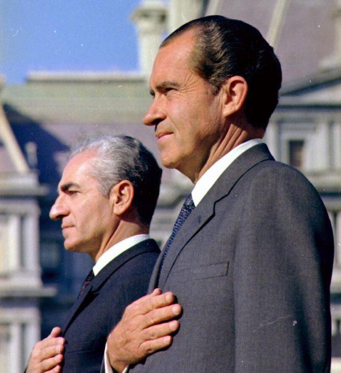Shah Muhammad Reza Pahlavi and President Richard Nixon