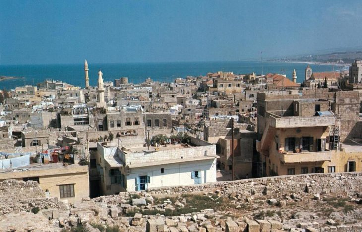 View of the port city of Sayda.
