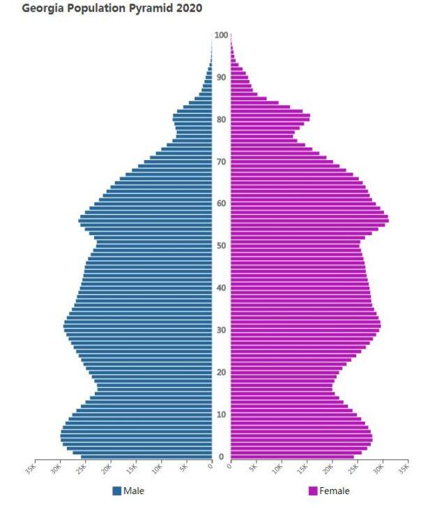 Georgia Population Pyramid 2020