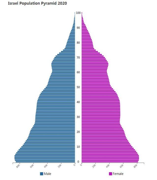 Israel Population Pyramid 2020