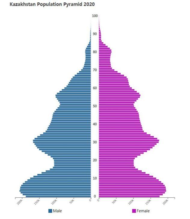 Kazakhstan Population Pyramid 2020