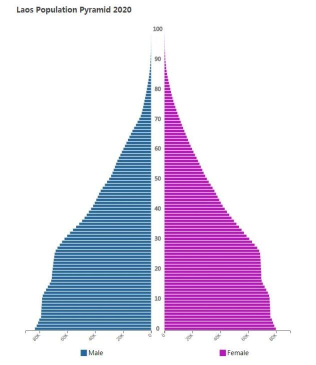 Laos Population Pyramid 2020