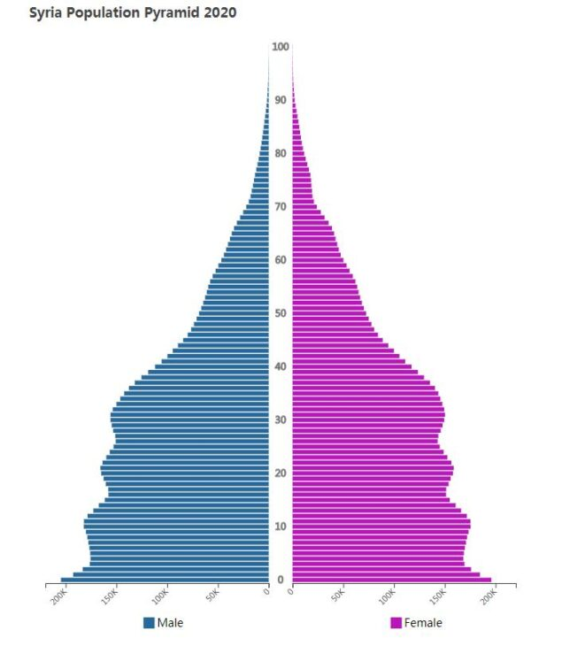 Syria Population Pyramid 2020
