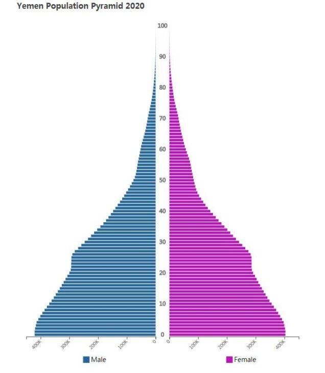 Yemen Population Pyramid 2020