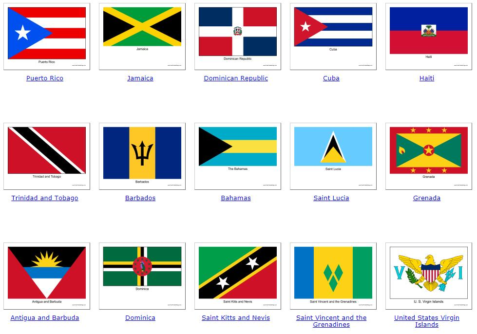 Flags of Central America