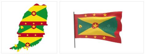 Grenada Flag and Map