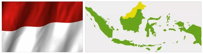 Indonesia Flag and Map