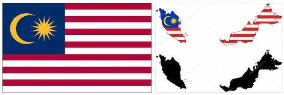 Malaysia Flag and Map