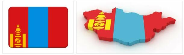 Mongolia Flag and Map