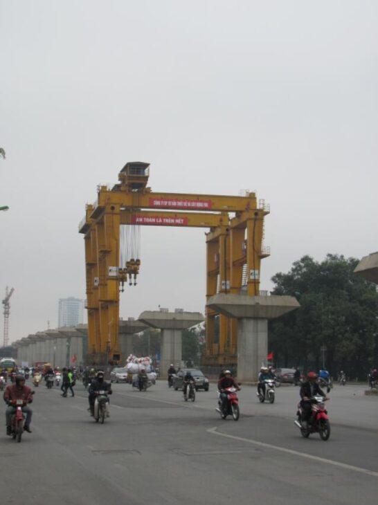 Elevated railway in Hanoi